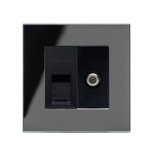 RetroTouch Cat5E/Sat Socket Black PG 01809